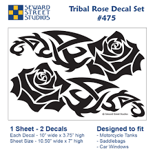 Tribal Rose Vinyl Decal Set Seward Street Studios