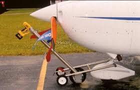 cordless drill powered aircraft tug
