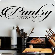 Star17 Pantry Lets Eat Kitchen Vinyl Wall Decal Wish