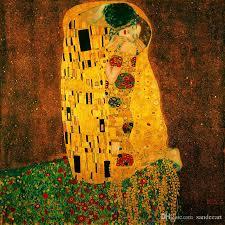 2020 gustav klimt kiss oil painting