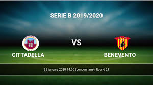 Cittadella vs Benevento H2H 25 jan 2020 Head to Head stats prediction
