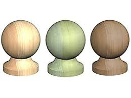 Building Materials Decking Fencing 3 Untreated Acorn Finial Wooden Fence Post Cap 4 100mm 1 75mm Base Eurasianet Eu