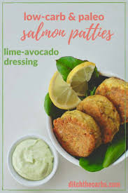 paleo low carb salmon patties with