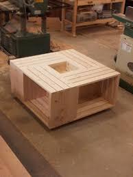 wood crate coffee table ana white