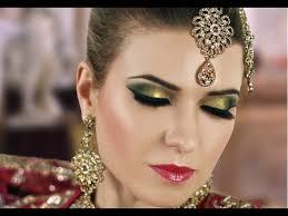 green smokey eye bridal makeup tutorial