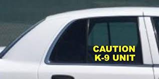 Amazon Com K 9 Unit Side Window Decal Set Police Dog Yellow Sticker K9 Police Car Truck Suv Everything Else