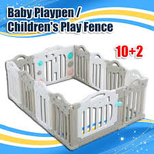 Cod Baby Play Fence Childrens Portable Play Yard For Kids Infant Plastic Room Divider Shopee Philippines