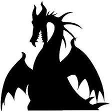 Amazon Com Pmxkbzzr Maleficent Dragon Vinyl Decal Decor Dragon Sticker Villian Dragon Car Decal Halloween Sticker Kitchen Dining
