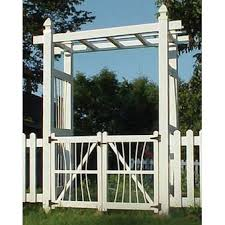 Dura Trel Inc Courtyard Vinyl Arbor Gate Reviews Wayfair