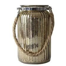 antique gold glass jar rope handle