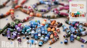 how to make paper beads from magazines