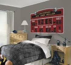 Football Scoreboard Personalized Mural Red Kids Sports Bedroom Sports Themed Bedroom Sport Bedroom