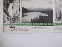 1935 Car Decal Yellowstone Yosemite National Park Service Department Of The Inte 1898496071