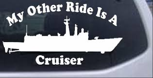 My Other Ride Is A Cruiser Car Or Truck Window Decal Sticker Rad Dezigns