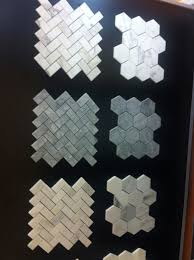 Bardiglio Tile Herringbone And Hexagon White Picket Fence Bathroom Update Home Remodeling