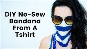 DIY No Sew Bandana - YouTube