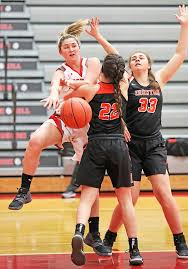 Lady Tigers shoot their way past Redwomen, 58-41 - The Tribune | The Tribune