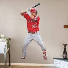 Mike Trout At Bat Officially Licensed Mlb Removable Wall Decal
