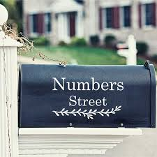 Large Size Custom Mailbox Address Vinyl Decal Stickers Personalized Mail Box House Street Numbers Art Decals Home Decor Wall Stickers Aliexpress