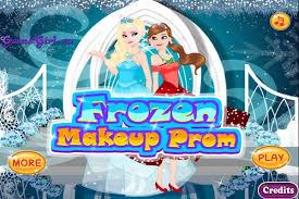 frozen makeup prom make up games