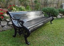 black cast iron park garden bench