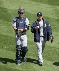 File:Austin Romine (left) Sonny Gray (right) in 2017 (37093892795 ...
