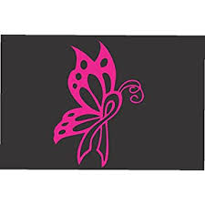 Amazon Com Butterfly Ribbon Pink Die Cut Vinyl Window Decal Sticker For Car Or Truck 5 X7 Everything Else