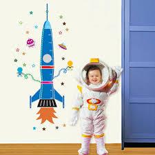 Uniquebella Rocket Lift Off Nursery Decor Growth Charts Kids Room Decor Height Chart For Kids Room Pvc Removable 60x90cm Baby B074k8m82m