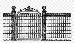 Free Fence Digital Stamp Fence And Gate Clipart Png Download 1021703 Pikpng