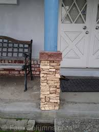 Installing A Stacked Stone Column Wrap Creative Columns