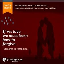poems about forgiveness and love