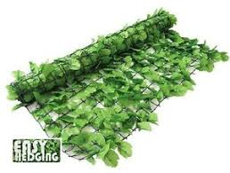 Artificial Ivy Garden Hedge Fence Wall Privacy Screening 3m X 1m Light Green 7426762784720 Ebay