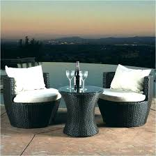 small patio table set outdoor space