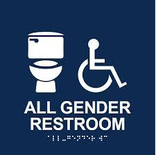 all gender restroom signage office