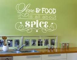 Love Food Kitchen Wall Decals Sticker Mural Vinyl Art Home Decor Contemporary Wall Decals By Style And Apply