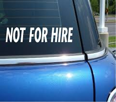 Not For Hire Private Dot Truck Driver Decal Sticker Vinyl Car Wall
