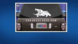 Croc Gator Car Window Decal Sticker Youtube