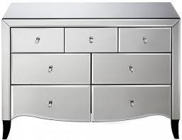 meadow 4 3 drawer chest mirrored