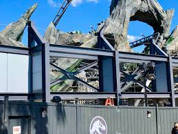Photos Video Waterfall Flowing Through Rocks Additional Electric Fencing And More Details Around Jurassic World Velocicoaster At Universal S Islands Of Adventure Wdw News Today