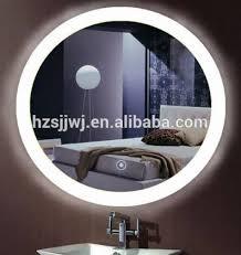 delectable light bathroom mirror round