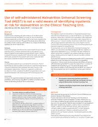 malnutrition universal screening