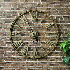 xl garden wall clock roman numerals