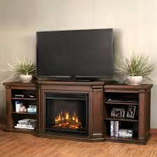 electric fireplace in chestnut oak