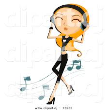 vector clipart of a dancing while