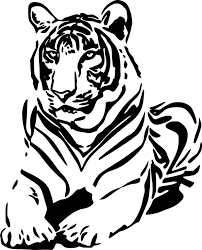 Tiger Wild Cat Safari Wall Car Truck Window Laptop Vinyl Sticker Decal Animal Stencil Tiger Art Silhouette Art