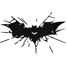 Batman Glass Breaking Decal Sticker Vinyl Decal Stickers Silhouette Cameo Crafts Vinyl Decals