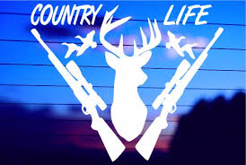 Country Life Deer Car Decal Sticker
