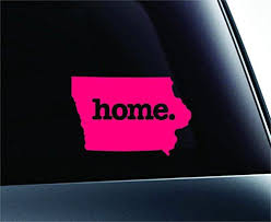 Home Iowa State Symbol Decal Funny Car Truck Sticker Window Pink Expressdecor Http Www Amazon Com Dp B00tg0bvhq Ref Truck Stickers State Symbols Car Humor