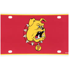 Ferris State Bulldogs Decorative License Plate Walmart Com Walmart Com