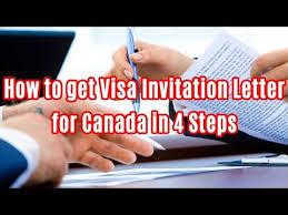how to get visa invitation letter for